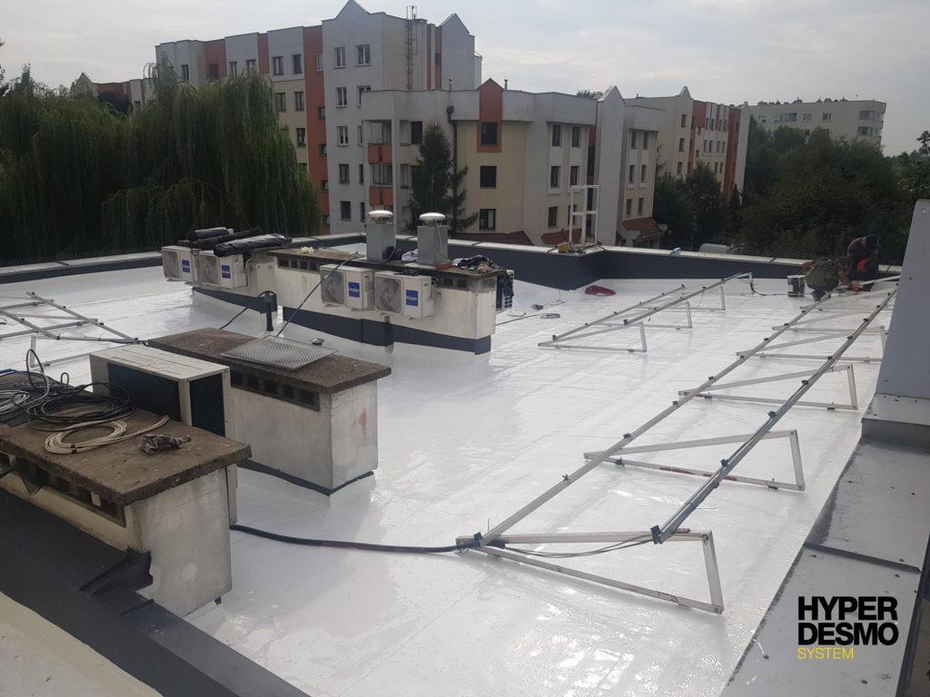 Dach papowy po wykonaniu renowacji w systemie Hyperdesmo