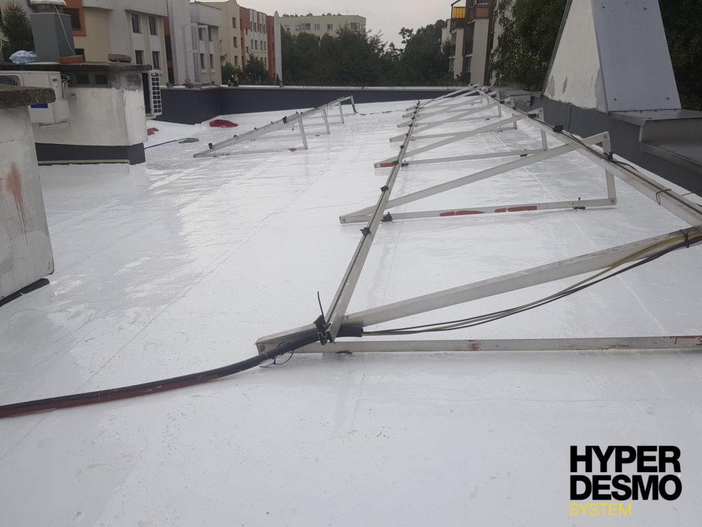 Warszawa Bielany. Dach po wykonaniu prac renowacyjnych dachu w systemie Hyperdesmo
